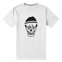 Мужская стрейчевая футболка Череп велосипедиста - FatLine