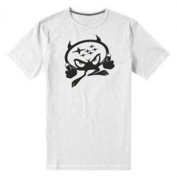 Мужская стрейчевая футболка Чертик Subaru - FatLine