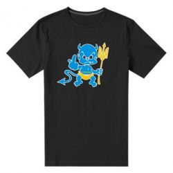 Мужская стрейчевая футболка Чертик з трезубом - FatLine