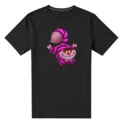 Мужская стрейчевая футболка Чеширский кот - FatLine
