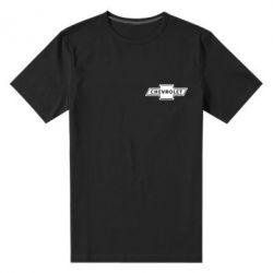 Мужская стрейчевая футболка Chevrolet Logo Small - FatLine