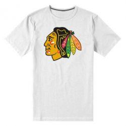Мужская стрейчевая футболка Chicago Black Hawks - FatLine