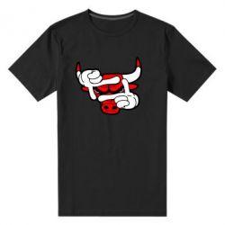 Мужская стрейчевая футболка Chicago Bulls бык - FatLine