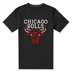Мужская стрейчевая футболка Chicago Bulls Logo - FatLine