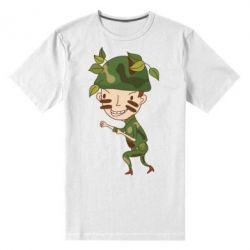 Мужская стрейчевая футболка Cміливий солдат - FatLine