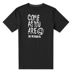 Мужская стрейчевая футболка Come as you are Nirvana