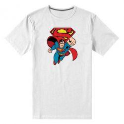 Мужская стрейчевая футболка Comics Superman - FatLine