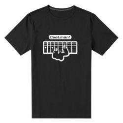 Мужская стрейчевая футболка Cool man? - FatLine