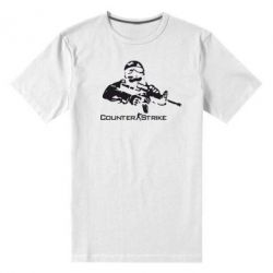 Мужская стрейчевая футболка Counter Strike Player - FatLine