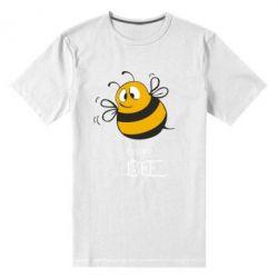 Мужская стрейчевая футболка Crazy Bee