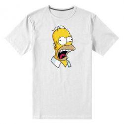 Мужская стрейчевая футболка Crazy Homer! - FatLine