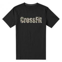 Мужская стрейчевая футболка CrossFit камуфляж - FatLine