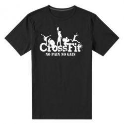Мужская стрейчевая футболка Crossfit No pain No Gain - FatLine