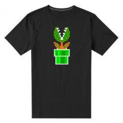 Мужская стрейчевая футболка Цветок-людоед Супер Марио - FatLine