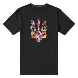Мужская стрейчевая футболка Цветущий герб