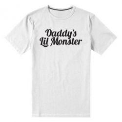 Мужская стрейчевая футболка Daddy's Lil Monster - FatLine