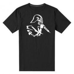 Мужская стрейчевая футболка Дарт Вейдер караоке - FatLine