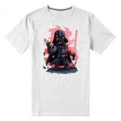 Мужская стрейчевая футболка Darth Vader Force - FatLine