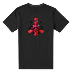 Мужская стрейчевая футболка Deadpool Love