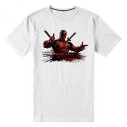 Мужская стрейчевая футболка Deadpool Paint - FatLine