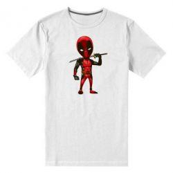Мужская стрейчевая футболка Дэдпул - FatLine