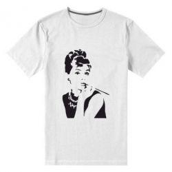 Мужская стрейчевая футболка Девушка красит губы - FatLine