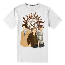 Мужская стрейчевая футболка Дин, Сэм и Кас - FatLine