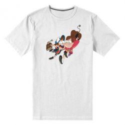 Мужская стрейчевая футболка Диппер и Мэйбл - FatLine