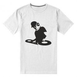 Мужская стрейчевая футболка Dj Logo - FatLine