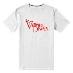 Мужская стрейчевая футболка Дневники Вампира Лого - FatLine