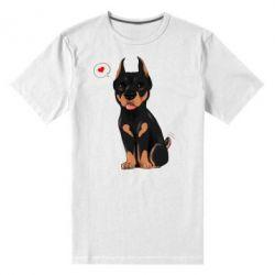 Купить Мужская стрейчевая футболка Doberman Puppy, FatLine