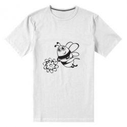 Мужская стрейчевая футболка Добрая пчелка - FatLine