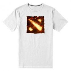 Мужская стрейчевая футболка Dota 2 Fire Logo - FatLine