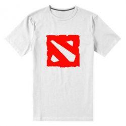 Мужская стрейчевая футболка Dota Logo Дота - FatLine