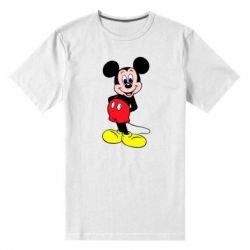 Мужская стрейчевая футболка Довольный Микки Маус - FatLine