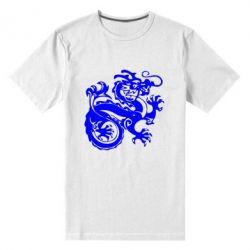 Мужская стрейчевая футболка Дракон - FatLine