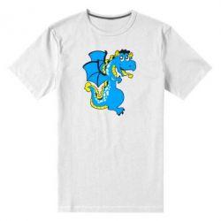 Мужская стрейчевая футболка Дракоша - FatLine