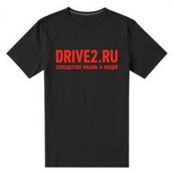 Мужская стрейчевая футболка Drive2.ru - FatLine