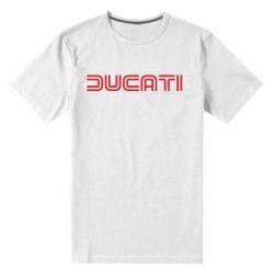 Мужская стрейчевая футболка Ducati Vintage - FatLine