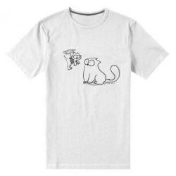 Мужская стрейчевая футболка Два кота - FatLine