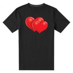 Мужская стрейчевая футболка Два сердца - FatLine