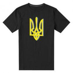 Мужская стрейчевая футболка Двокольоровий герб України - FatLine
