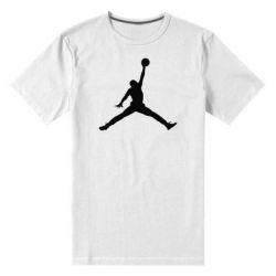 Мужская стрейчевая футболка Джордан - FatLine