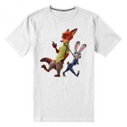 Мужская стрейчевая футболка Джуди и Ник - FatLine