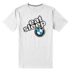 Чоловіча стрейчева футболка Eat, sleep, BMW