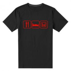Мужская стрейчевая футболка Eat Sleep Honda - FatLine