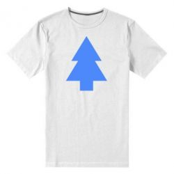 Мужская стрейчевая футболка Елка - FatLine