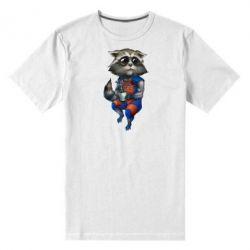 Мужская стрейчевая футболка Енот Ракета и Грут - FatLine