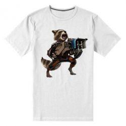 Мужская стрейчевая футболка Енот Стражи Галактики
