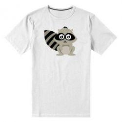 Мужская стрейчевая футболка Енот - FatLine